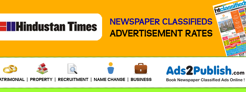 Hindustan Times Classifieds Ad Rates