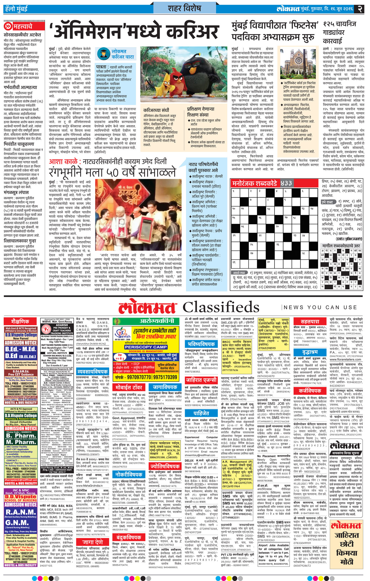 Lokmat Classified Ad Rates