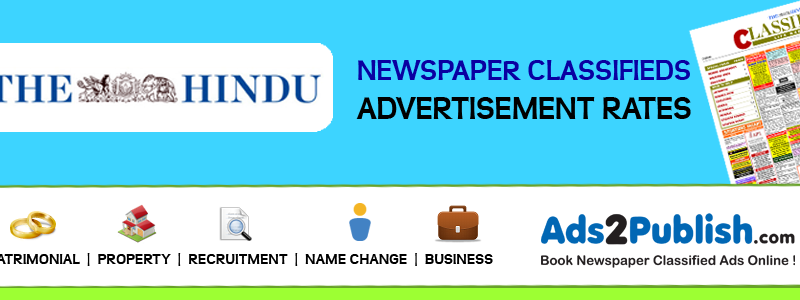 The Hindu Classified Ad Rates