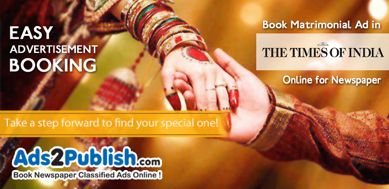times-of-india-matrimonial-ad-booking-for-newspaper